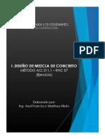 Diseño de Mezcla de Concreto (Método ACI)