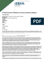 El Servicio Social en la Medicina_ anacrónico ineficiente y peligroso