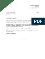 Carta de Presentacion Espontanea Para Trabajo