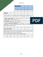 Trail Balance Work Sheet