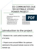 AFFECTED COMMUNITIES DUE TO UPPER KOTMALE HYDRO POWER PROJECT