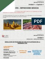 Mecánica de suelos Introducción - Definiciones Básicas (MSD)