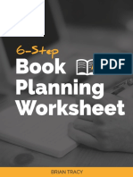 6 Step Book Planning Worksheet