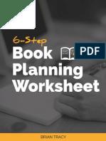 6 Step Book Planning Worksheet