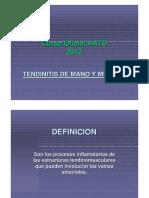 Tendinopatias de Muneca y Mano - Dr. Giulietti
