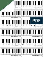FLASH CARDS for Memorising Major & Minor Chords