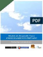 Modelo de Desarrollo Vasco. ENDEUDAMIENTO PRIVADO