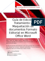 Guía formato Editorial con Office Word (Actualizado)