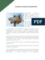 Información Documentada en Sistemas de Gestión ISO 9001