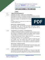 Especificaciones tecnicas de un proyecto de sistema de agua potable