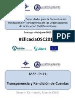 """Presentación Taller """"Desarrollo de Capacidades para la Comunicación Institucional y Transparencia de las Organizaciones de la Sociedad Civil Dominicana"""""""
