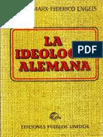 Marx, Karl - La Ideología Alemana
