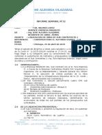 Inf. N°32 - Liquidacion de Obra