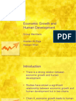 Economic Growth and Human Development