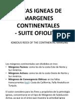 Rocas Igneas de Margenes Continentales
