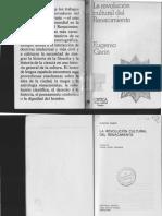 GARIN, Eugenio. La Revolución Cultural Del Renacimiento