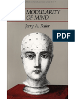 The Modularity of Mind- Fodor