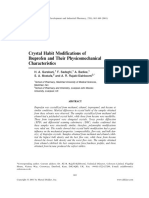 Garekani, DDIP, 2001, Crystal Habit Modification of Ibuprofen