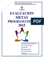 Evaluacion Cualitativa Metas Programaticas 2015