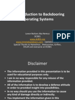 DefCon 22 - An Introduction to Backdooring Operating Systems