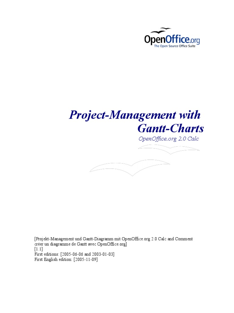 Openoffice project management with gantt charts damages indemnity ccuart Choice Image