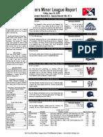 6.10.16 Minor League Report