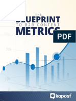 The Blueprint to B2B Content Metrics