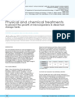 Physical and chemical treatments to prevent the growth of microorganisms in diesel fuel storage tanks