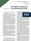 (ES) D - Delitos Tributarios, Defraudación Fiscal