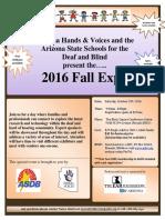2016 Fall Expo Flyer
