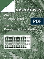 Chemosensitivity Vol 1