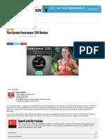 The Garmin Forerunner 235 Review - SmartWatch Run