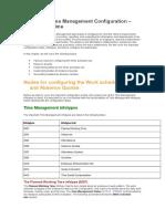 Chapter 5 Time Management Configuration – Negative Time