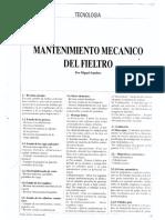 Mantenimiento Mecanico de Fieltro de Maquina Papelera