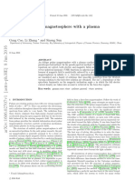 An oblique pulsar magnetosphere with a plasmaconductivity