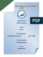 Didactica General Tarea v 2016 Uapa