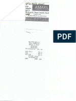 Taxi and Miscellaneous AEDC receipts