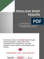 Penulisan Resep Pediatrik Edit 3