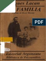 La Familia y Los Complejos Familiares Lacan
