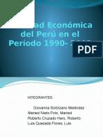 Realidad Económica en El Perú en El Período 1990 2000