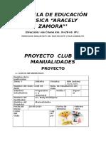 Proyecto Del Club - Manualidades
