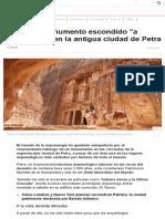 El Colosal Monumento Escondido _a Simple Vista_ en La Antigua Ciudad de Petra - BBC Mundo