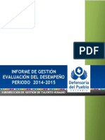 Informe Evaluación Del Desempeño 2015 Ajustado