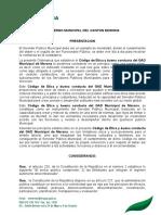o. Ordenanza Del Código de Ética Del Gobierno Municipal Del Cantón Morona