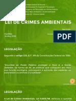 Apresentação Lei de Crimes Ambientais UFPR Gestão Pública 2016