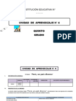 UNIDAD DE APRENDIZAJE 5° DE ED. PRIMARIA JUNIO 2016