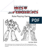Transformers Tabletop RPG