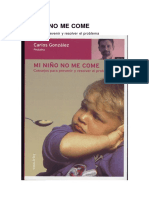 Gonzalez Carlos - Mi Niño No Me Come (Pediatria)