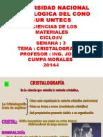 290414 Untecs Semana 4 Ciencias de Los Materiales Cristalografia