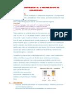 Análisis Experimental y Preparación de Soluciones